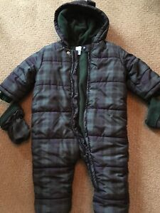 12-18m snowsuit with detachable mitts and booties