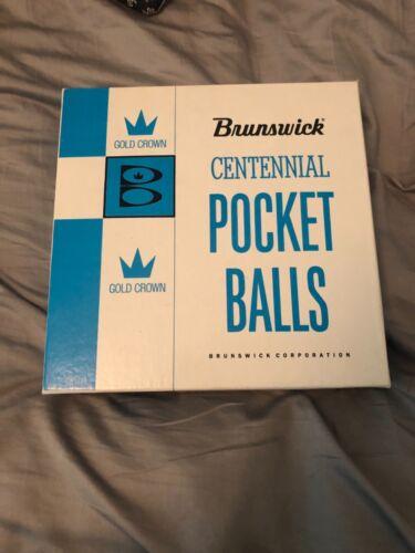 Vintage Brunswick Centennial Gold Crown Pocket Balls Pool Billiards 002-07-500
