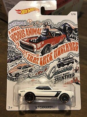 Hot Wheels 50th Anniversary Chevy Camaro 1967 White Chevrolet 67 # 1