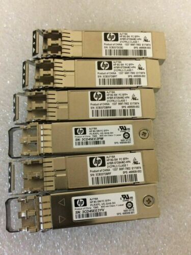 Lot Of 6 Hp Aj718a 8gbps Short Wave Fc Sfp+ 468508-001