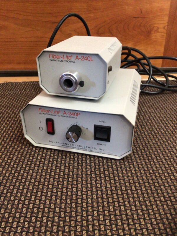 Dolan-Jenner Fiber-Lite A-240P Regulated Power Supply and A-240L Light Source