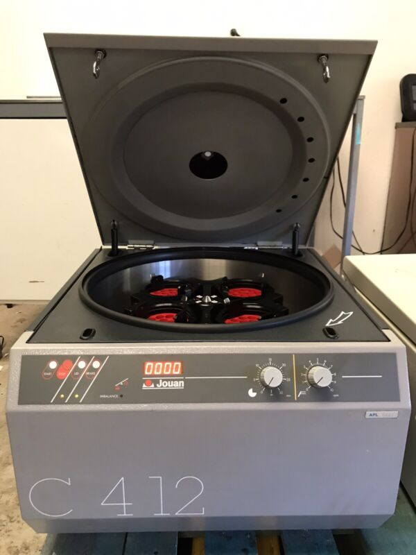 Jouan C 412 Centrifuge With Rotor And Buckets. Tested In Good Working Condition