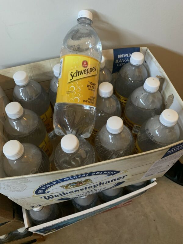 4 Pack Schweppes Tonic Water Contains Quinine 1 Liter New Same Day Shipping
