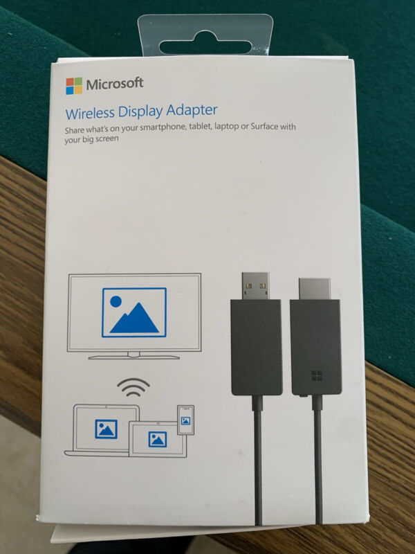 Microsoft Wireless Display Adapter (P3Q-00001) new sealed damage box