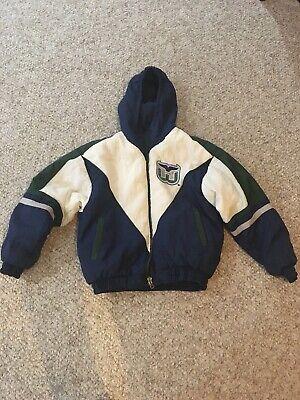 Vintage 90s Hartford Whalers REVERSIBLE Jacket Kids Med-large Hockey NHL Puffer