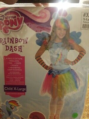 Rainbow Dash Costume for Girls, My Little Pony, XL #380