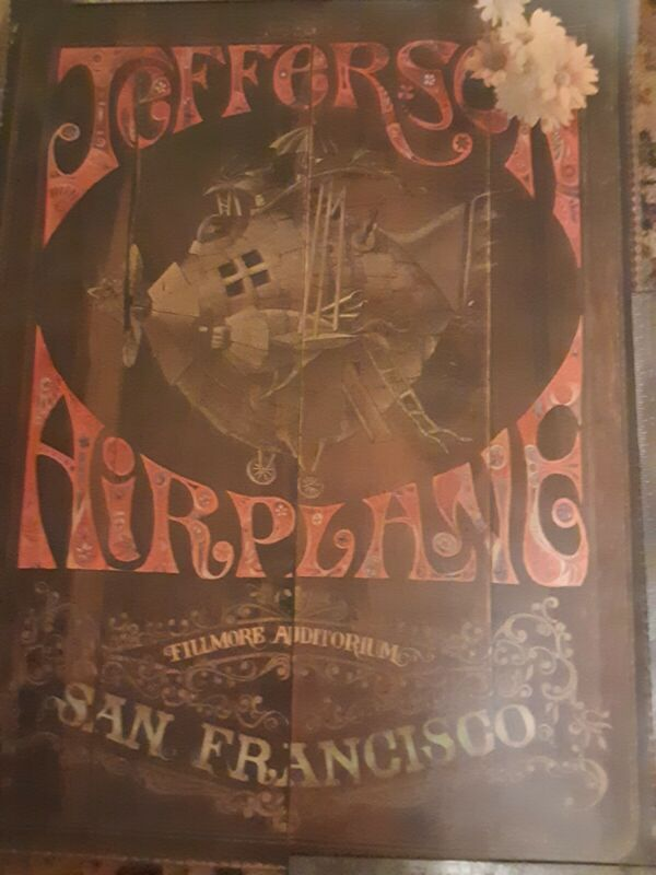 Jefferson Airplane Original Double sided Fillmore Poster