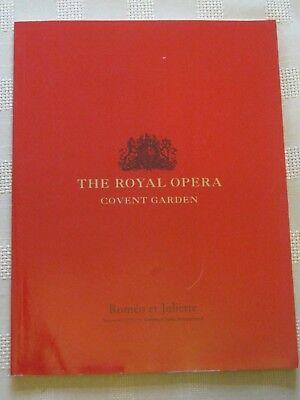 Royal Opera House Program / 6 MARCH 2000 / ROMEO ET JULIETTE / CHARLES MACKERRAS
