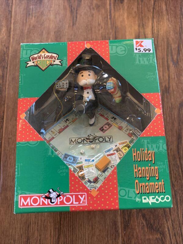 Enesco Monopoly Ornament 1997 Hasbro World