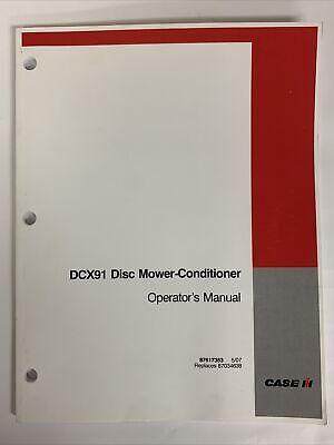 Case Ih Operators Manual -- Dcx91 Disc Mower-conditioner