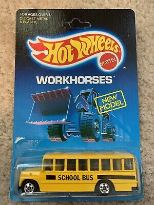 1988 Hot Wheels Workhorses School Bus Unpunched Card