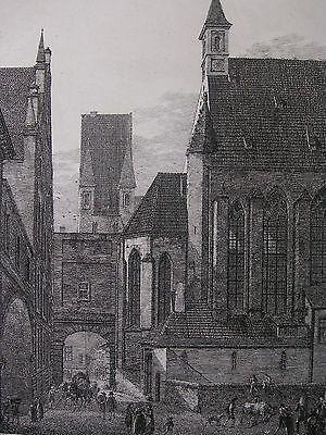 DOMENICO QUAGLIO ´MÜNCHEN, ST. LORENZKAPELLE, ALTER HOF´ GROSSE RADIERUNG, 1811