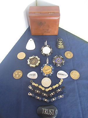 Recovery Medallion Na  Aa Or Military Coin Chain Coin Holder Keychain