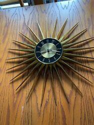 VintageEstate Sale-Elgin Starburst Sunburst Clock Mid Century