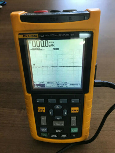 Fluke 123 Industrial ScopeMeter Handheld Oscilloscope 20MHz Multimeter