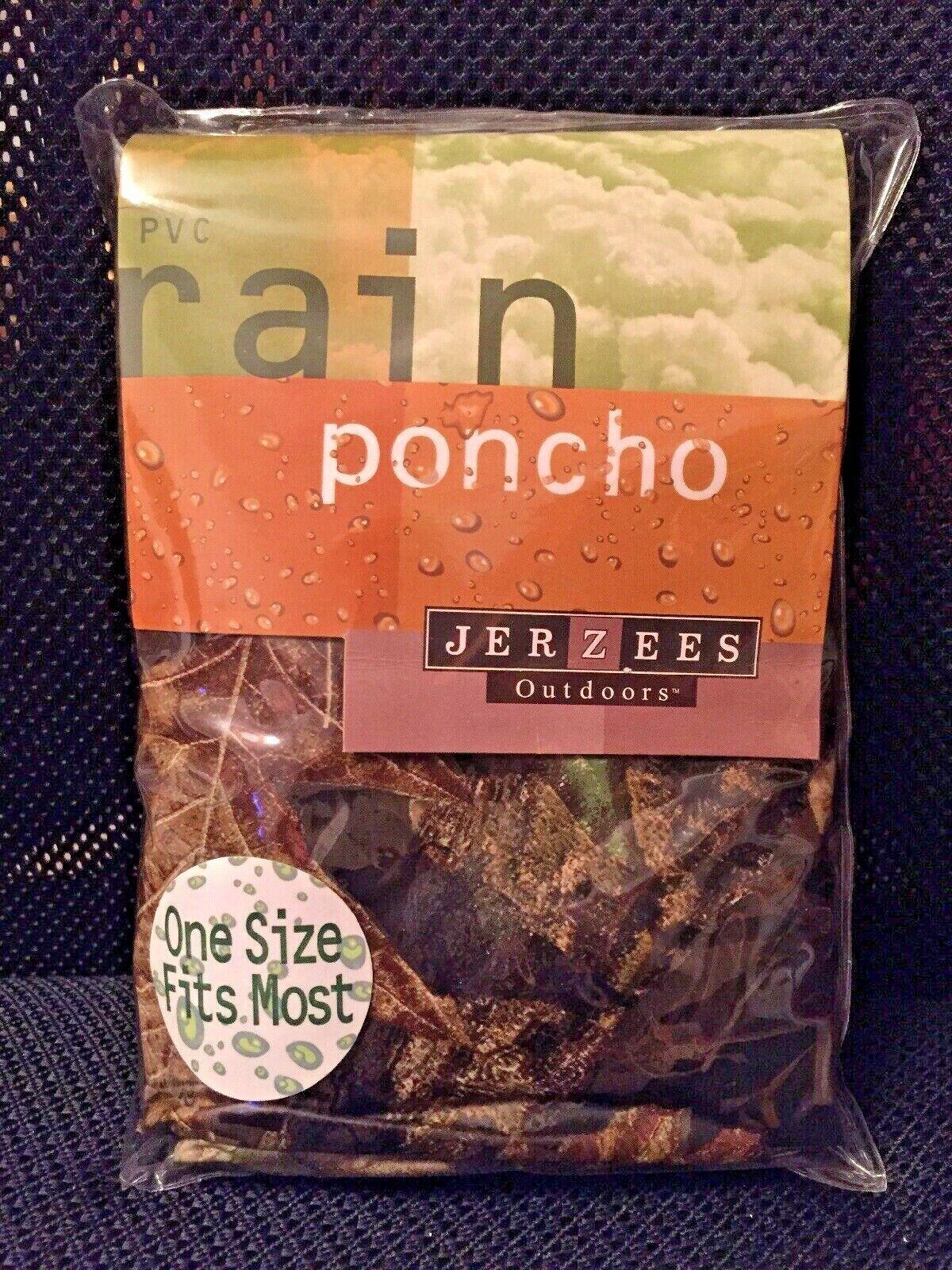 New JERZEES OUTDOORS 10 mm PVC Rain Poncho Waterproof Mossy