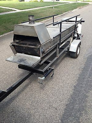 Hamburger Cookerroaster Trailer Catering Party