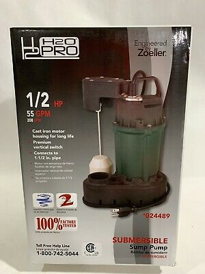 H2o Pro 12 Hp Cast Iron Submersible Sump Pump 024489