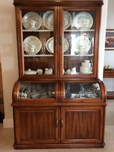 Dining room hutch with light