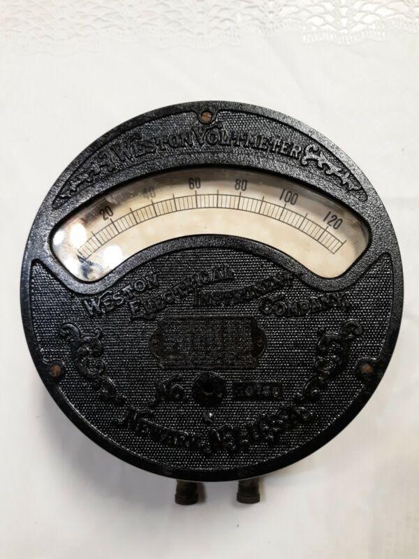Vintage Weston Electric Company Volt Meter, Newark  NJ