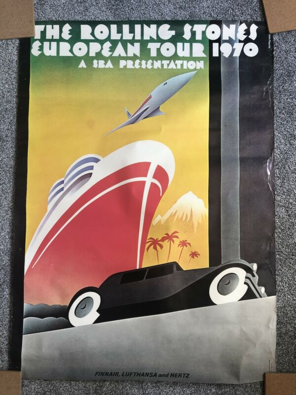 Rolling Stones European Tour 1970 Vintage Poster