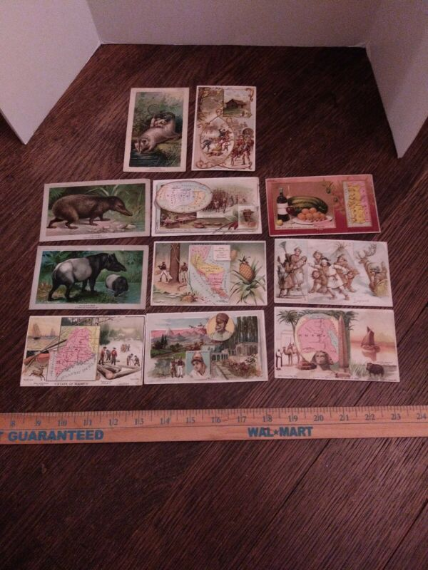Lot Of 11 Arbuckles Arosia Coffee Victorian Trade Cards