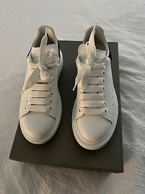 Alexander McQueen White & Black Leather Oversized Trainers UK5 EU38 Worn Twice