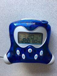 Oregon Scientific RM313PNFA Atomic Projection Clock with Indoor Temperature Blue