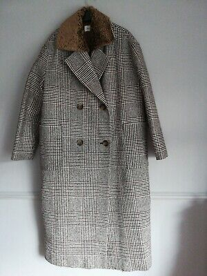 Isa Arfen Long wool mix Coat Size 14 Bnwt Rrp £275 double Breasted quilted
