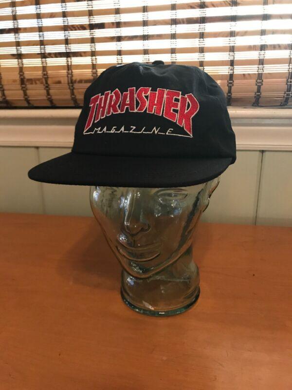 Thrasher Magazine Outlined Black / Red Snapback Skateboard Hat