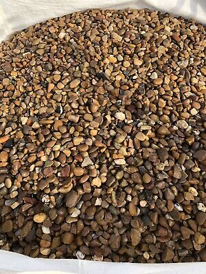 20MM DECORATIVE GOLDEN/ QUARTZ GRAVEL BULK BAG. landscaping, pebbles ,aggregate