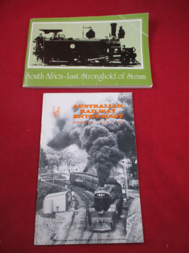 Locomotives of Australia & South Africa trains railroad books  x 2