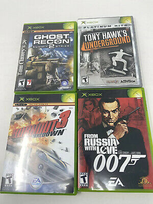 Xbox 360 Lot Of 4 Games For Teens Tony Hawk James Bond 007 Burnout 3 Ghost Recon