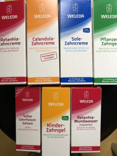 Weleda Zahnpflege Zahncreme Set 7 Teilig Pflege Balsam Natur Kosmetik Style Skin