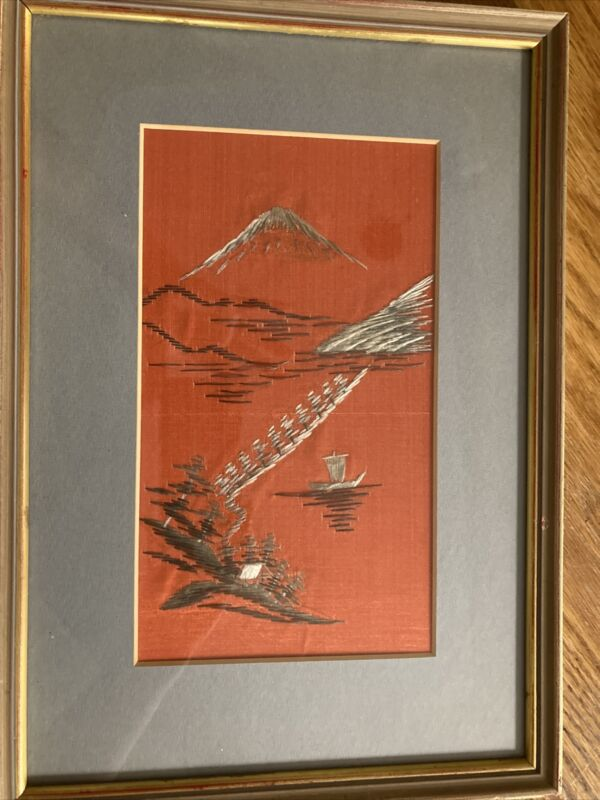 Japanese Embroidered Silk Picture
