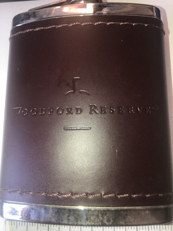 Woodford Reserve Bourbon Whiskey 6 oz Flask Stainless Steel new
