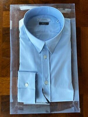 Versace Collection Mens Trend Dress Shirt Light Blue size 16 / 41 New NIB