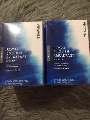 NEW Teavana Royal English Breakfast Black Tea 24 Full Leaf Tea Sachets 2 Boxes