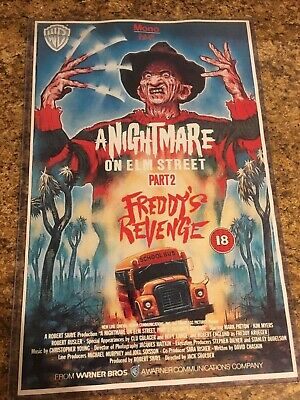 A NIGHTMARE ON ELM STREET PART 2 11x17 inch Movie Poster in Hard Plastic Sleeve