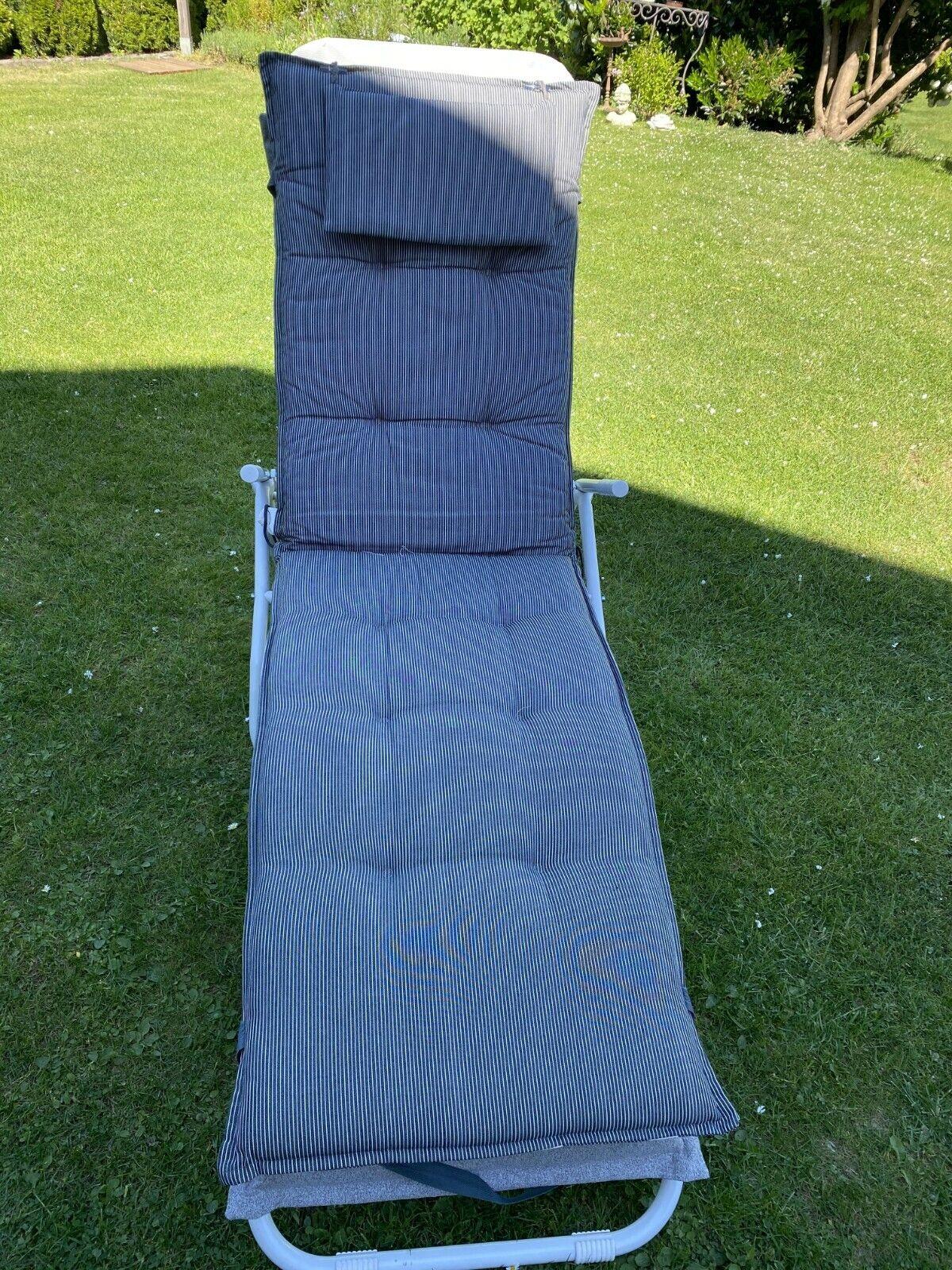 Liegenauflage für Gartenliege oder Deckchair, wie neu