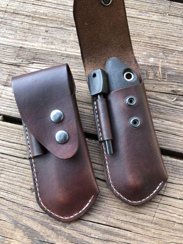 One (1) Silky Pocket Boy 130 Leather Sheath Ferro Loop  (No saw Or Ferro Rod)