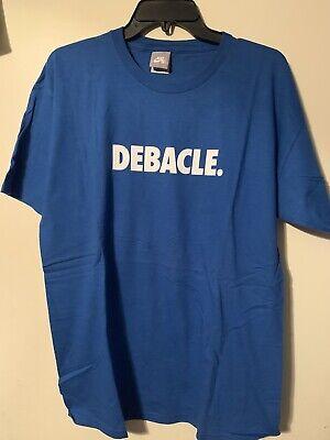 Vintage Rare NWOT Nike SB Debacle Skateboard Blue Short Sleeve T-Shirt Men Large