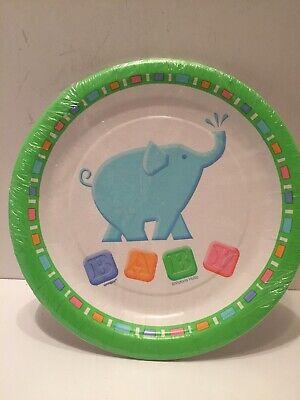 """Unique Paper Plates (Unique Animal Cracker 7"""" Child Party Paper Plates)"""