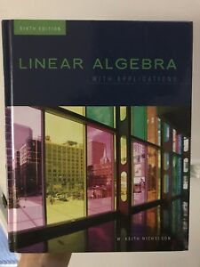 Linear algebra with applications by Nicholson