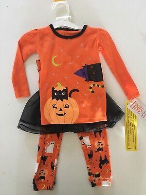 CARTER'S 3 Piece Toddler Halloween Tutu Pajama Set NWT
