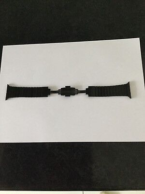 Genuine apple 316l Stainless Steel Black 42mm Watch Strap Perfect Condition