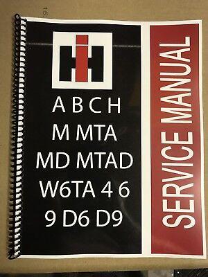 W6 Super W6 International Technical Service Shop Repair Manual Farmall