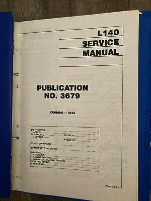 Michigan Volvo L140 Wheel Loader Service Manual