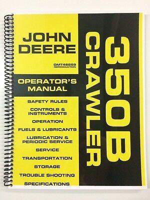 Operators Manual For John Deere 350b Crawler Dozer Owners Manual Maintenance