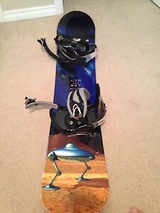"142"" Limited snowboard with 5150 bindings"